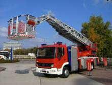 消防車のブーム、プラットフォーム位置制御